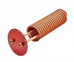 LK60 Copper coil 1250mm with tank flange